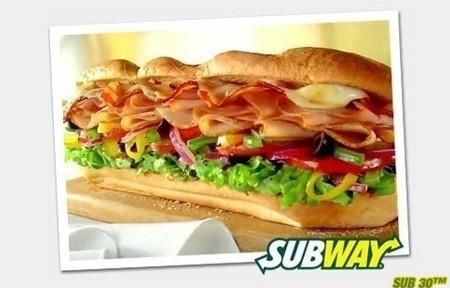 Déjeuner dans un restaurant Subway à Paris